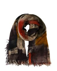 Faliero Sarti - Multicolor Painterly Print Scarf - Lyst