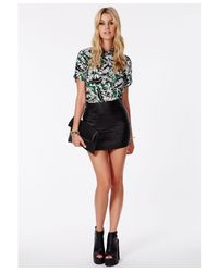 Missguided - Green Kohala Hawaiian Print Blouse - Lyst