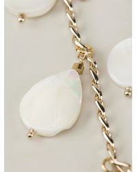 Ermanno Scervino - White Mother Of Pearl Embellished Necklace - Lyst