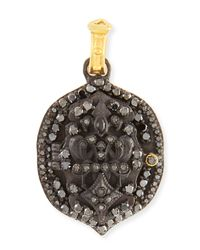 Armenta | Black Pointed Fleur De Lis Locket Enhancer for Men | Lyst