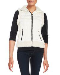 Calvin Klein - White Fleece-lined Puffer Vest - Lyst