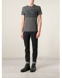 John Varvatos - Gray Star-Print T-Shirt for Men - Lyst
