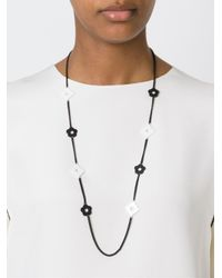Marc By Marc Jacobs | Black 'diamonds And Daisies' Necklace | Lyst