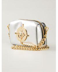 Versus | Metallic Lion-Plaque Leather Shoulder Bag | Lyst