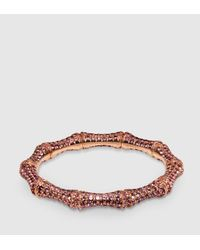 Gucci | Purple Lavender Sapphire And Gold Bamboo Bracelet | Lyst