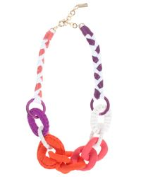 Missoni - Pink Fabric Beaded Necklace - Lyst