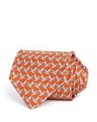 Ferragamo | Orange Duck Classic Tie for Men | Lyst