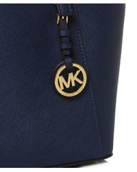 MICHAEL Michael Kors | Blue Jet Set Travel Top Zip Tote Bag | Lyst