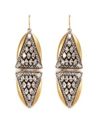 J.Crew | Metallic Crystal Triangles Earrings | Lyst