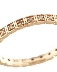 Anna Sheffield - Metallic Gold And White Diamond Eternity Ring - Lyst