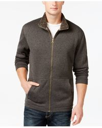 Weatherproof | Gray Vintage Knit Full-zip Mock-neck Jacket for Men | Lyst