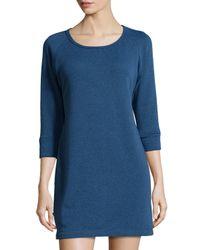 UGG | Blue 3/4-sleeve Round-neck Sleepshirt | Lyst