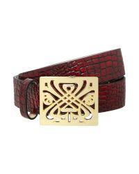 Biba - Purple Shena Natural Leather Trouser Belt - Lyst