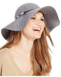 Calvin Klein | Gray Wool Felt Floppy Hat | Lyst