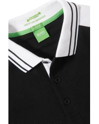 BOSS Green - Black Regular Fit Golf Polo Shirt 'paddy Pro 1' With Moisture Manager for Men - Lyst