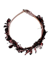 Valentino | Pink Crystal Satin Backing Choker | Lyst