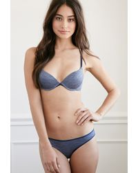 Forever 21 | Blue Space Dye Push-up Bra | Lyst