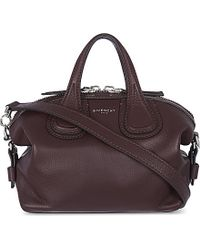 Givenchy - Purple Nightingale Micro Leather Tote - Lyst