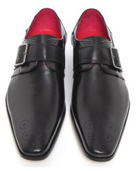 Jeffery West - Black Monk Strap Shoes for Men - Lyst