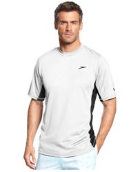 Lyst speedo performance uv protection longview short for Men s uv swim shirt short sleeve