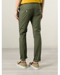 Julien David | Green Chino Trousers for Men | Lyst