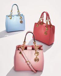 MICHAEL Michael Kors | Pink Cynthia Small Satchel Bag | Lyst
