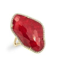 Anne Sisteron - Metallic 14kt Yellow Gold Ruby Nuage Diamond Ring - Lyst
