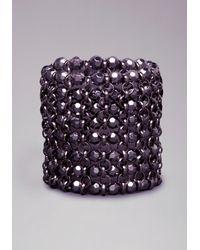 Bebe - Black Beaded Stretch Bracelet - Lyst