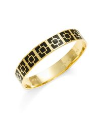 Trina Turk | Black Palm Springs Block Bangle Bracelet | Lyst