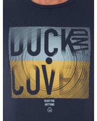 Duck and Cover | Blue Skews S/s Crew Neck Graphic T-shirt for Men | Lyst