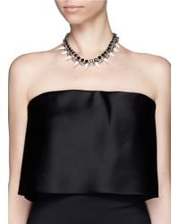 Joomi Lim - Metallic Spike Crystal Chain Necklace - Lyst