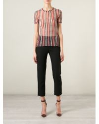 Jean Paul Gaultier - Black Striped Sheer Top - Lyst