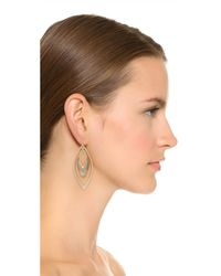 Alexis Bittar | Gray Orbiting Basic Earrings - Warm Grey/gold | Lyst