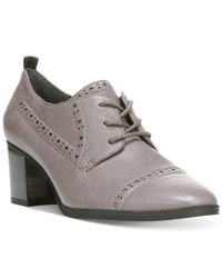 Franco Sarto | Gray Alberta Lace-up Shooties | Lyst