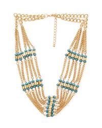 Forever 21 | Blue Inner Peace Chain Necklace | Lyst