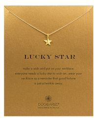 Dogeared | Metallic 'lucky Star' Pendant Necklace | Lyst