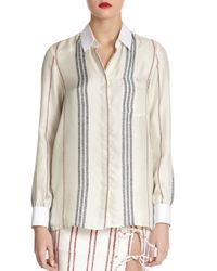 Altuzarra - White Chika Striped Silk Shirt - Lyst