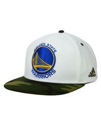Adidas - Golden State Warriors White Camo Snapback Cap for Men - Lyst