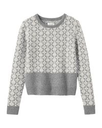 Toast | Gray Estonian Jacquard Neat Sweater | Lyst