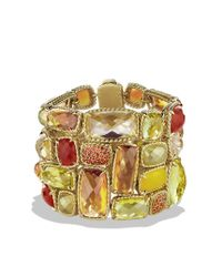 David Yurman - Chatelaine Bracelet with Lemon Citrine Champagne Citrine and Orange Sapphire in Gold - Lyst
