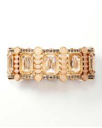 Ann Taylor - Pink Crystal Cluster Stretch Bracelet - Lyst