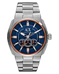 Armani Exchange - Blue Chronograph Bracelet Watch for Men - Lyst