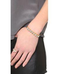 Elizabeth Cole - Metallic Crystal Cuff Bracelet - Crystal - Lyst