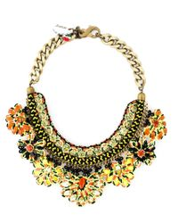 Sveva Collection - Multicolor Cord Beaded Handmade Necklace - Lyst