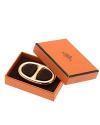 Hermès - Metallic HermãˆS Chain D'Ancre Scarf Ring - Lyst
