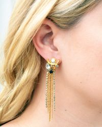Lizzie Fortunato | Metallic Te Amo Earrings | Lyst