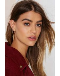 Luv Aj - Metallic Golden Rule Earrings - Lyst