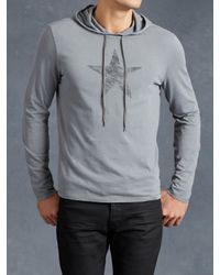 John Varvatos | Gray Star Graphic Pullover Hoodie for Men | Lyst