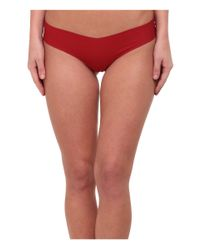 Commando - Red Cotton Thong Cct01 - Lyst