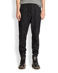 T By Alexander Wang - Gray Speckled Sweatpants for Men - Lyst